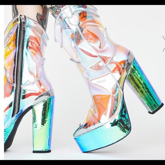 Dazed Deputy Holographic Boots Size